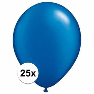 Ballonnen 25 stuks sapphire blauw qualatex