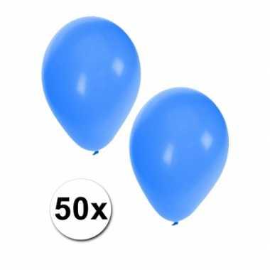 Ballonnen in het blauw 50 stuks