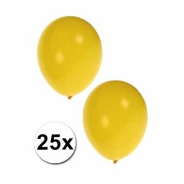 Ballonnen in het geel 25x