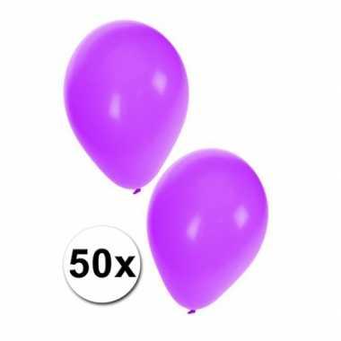 Ballonnen in het paars 50x