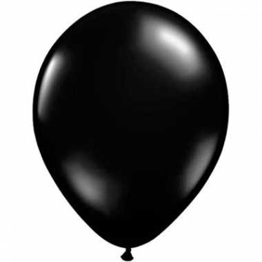 Ballonnen juwel zwart qualatex
