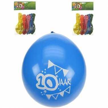 Ballonnen met 10 jaar opdruk