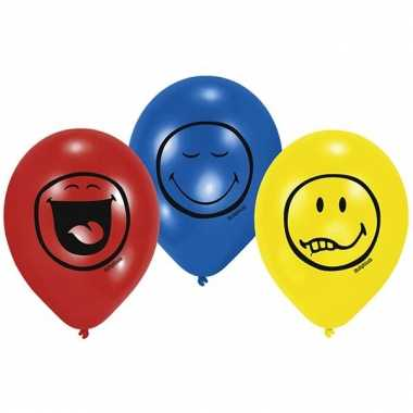 Ballonnen met smiley bedrukking