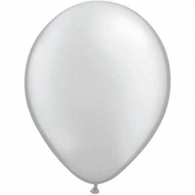 Ballonnen metallic zilver qualatex