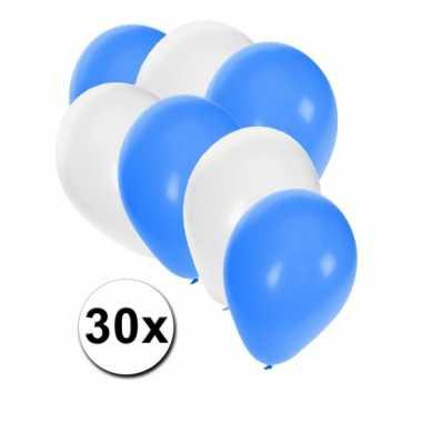 Ballonnen pakket blauw en wit