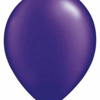 Ballonnen parel paars qualatex