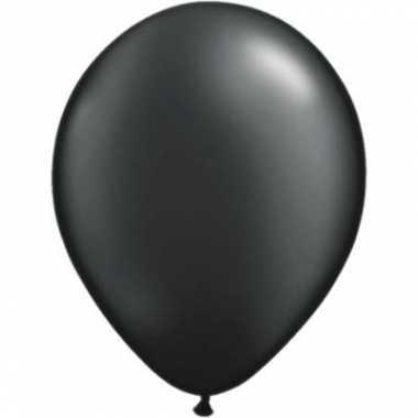Ballonnen parel zwart qualatex