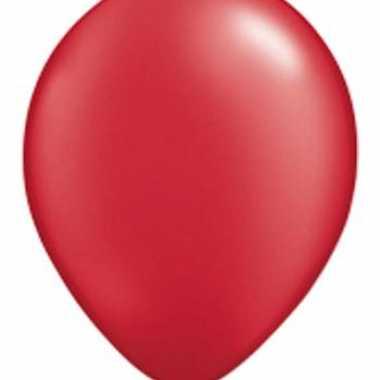 Ballonnen qualatex ruby rood