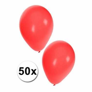 Ballonnen rood zakje van 50 stuks