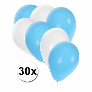 Ballonnen setje lichtblauw en wit