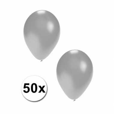 Ballonnen zilver 50x