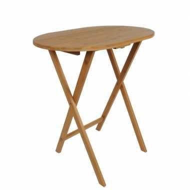 Bamboe bijzet tafel / vouwtafel opklapbaar bamboe