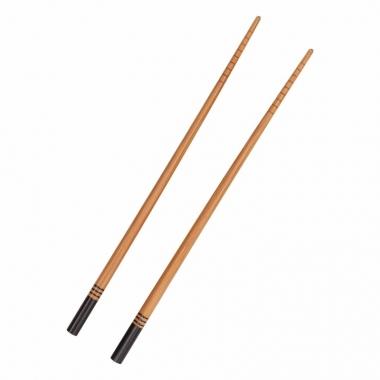 Bamboe eetstokjes zwart 2 stuks