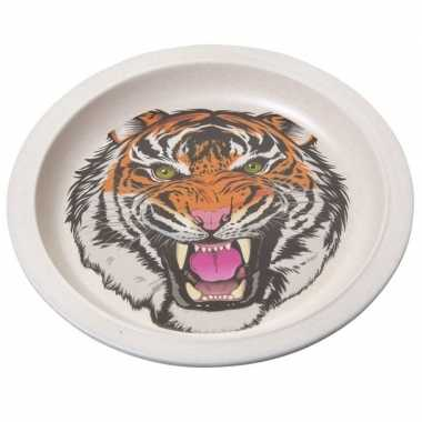 Bamboe ontbijtbord tijger voor kinderen 21 cm