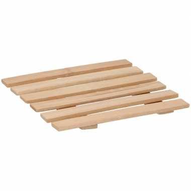 Bamboe pannenonderzetter 17 x 18 cm