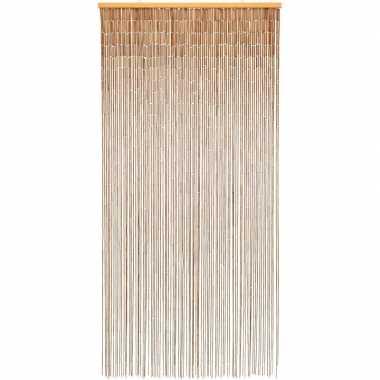 Bamboe vliegengordijn/deurgordijn naturel 90 x 200 cm