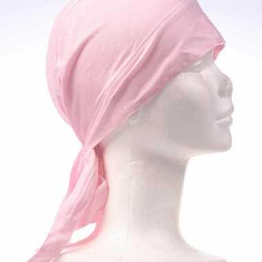 Bandana roze gekleurd