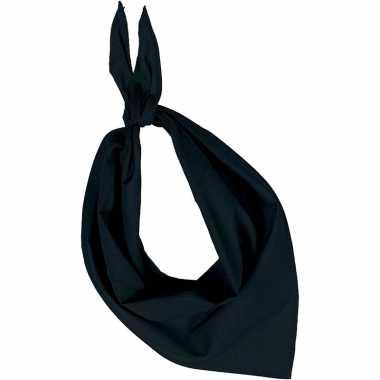 Bandana/zakdoek zwart voor volwassenen