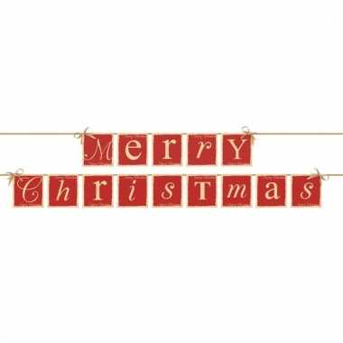 Banner feestslinger merry christmas