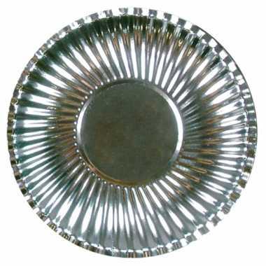 Barbecue bordjes zilver 29 cm