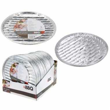 Barbecue grillschalen rond 3 stuks