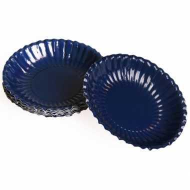 Barbecue schaaltjes donkerblauw 16 cm