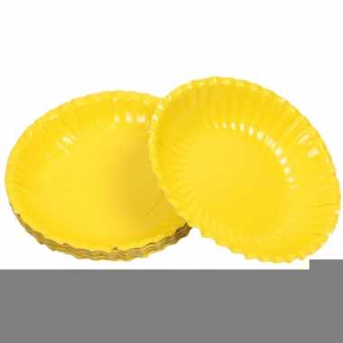 Barbecue schaaltjes geel 16 cm