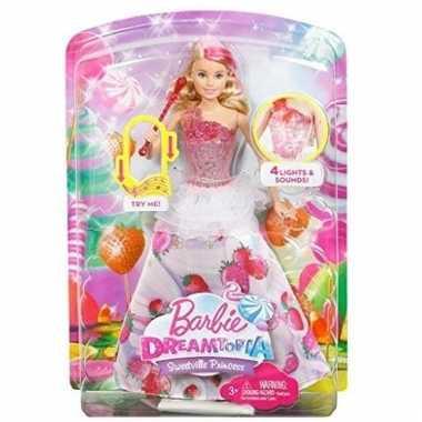 Barbie prinses pop met licht en geluid