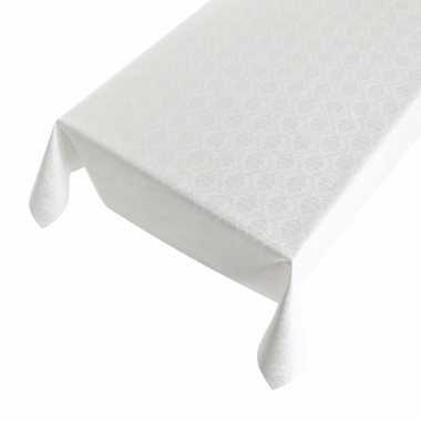 Barok wit tafelzeil 140 x 240 cm voor kerstmis trend
