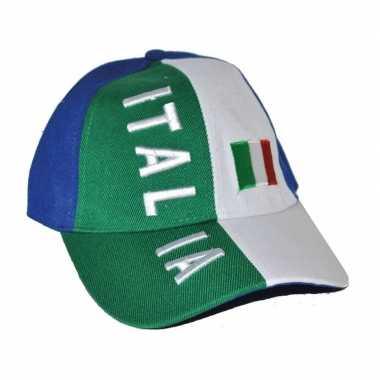 Baseball cap italiaanse kleuren