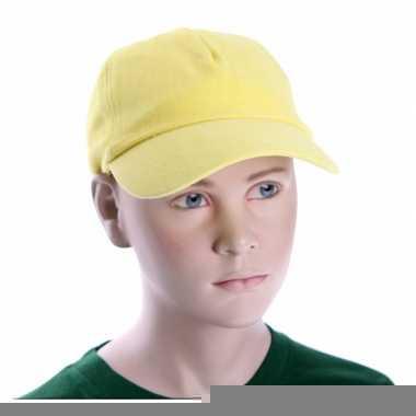 Baseballcapjes geel voor kinderen