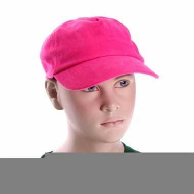 Baseballcapjes roze voor kinderen
