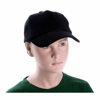 Baseballcapjes zwart voor kinderen