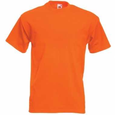 Basic oranje t-shirt voor heren