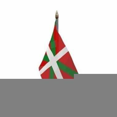 Baskenland vlaggetje met stokje