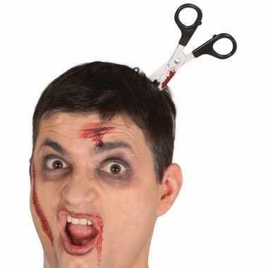 Bebloede schaar in het hoofd diadeem
