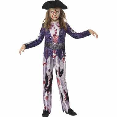 Bebloede zombie piraten outift voor meisjes