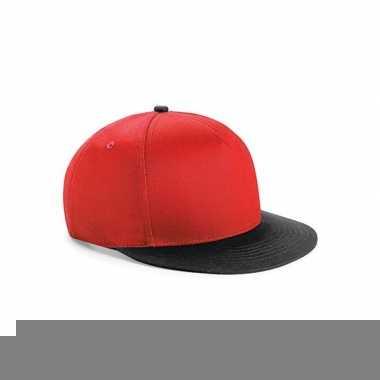 Beechfield kindercap rood/zwart