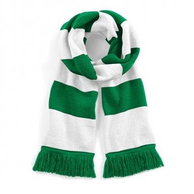 Beechfield retro sjaal groen/wit