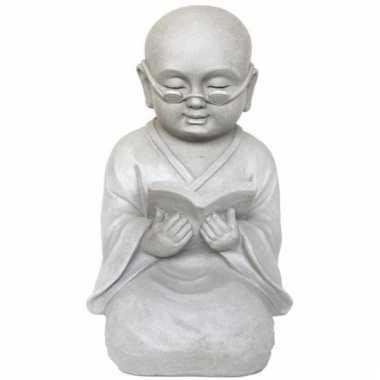 Beeld boeddhistische monnik 43 cm