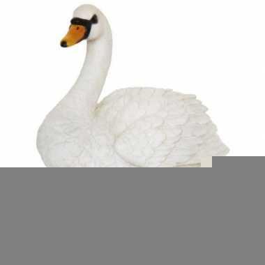 Beeld zwaantje wit 24 cm