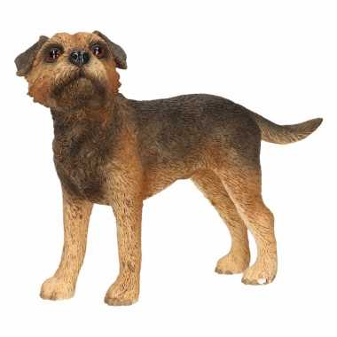 Beeldje border terrier hond 11 cm
