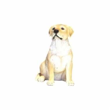 Beeldje bruin labrador hondje 21 cm