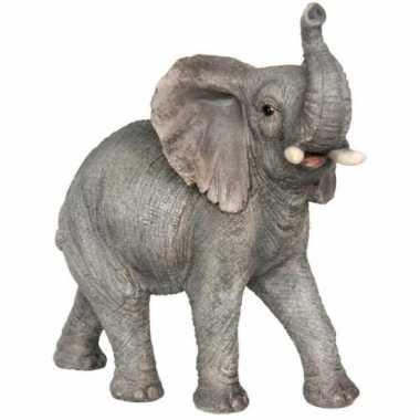 Beeldje olifant slurf omhoog 29 cm