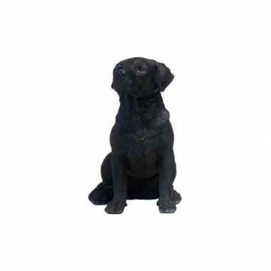 Beeldje zwart labrador hondje 21 cm