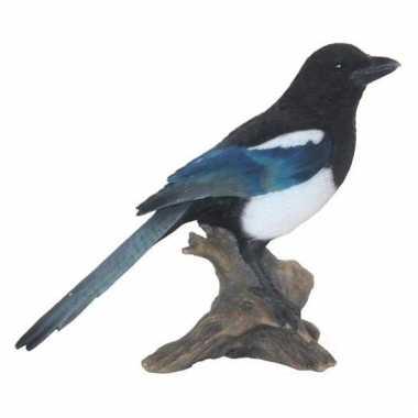 Beeldjes ekster vogeltjes 22 cm