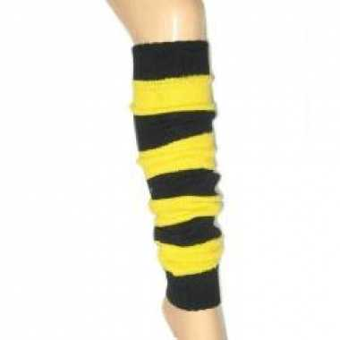 Beenwarmers zwart-geel
