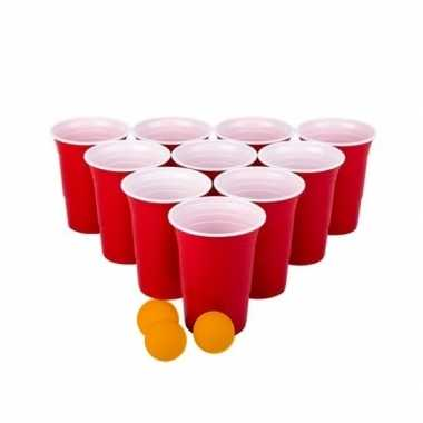 Beer pong drankspel/drinkspel 48 delig
