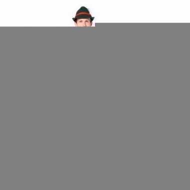 Beieren lederhose overknee donker groen voor heren