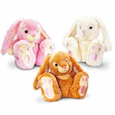 Beige konijnen knuffeldieren 25 cm